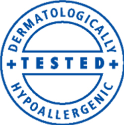 Dermatologically tested  and hypoallergenic Dermatologist Logo