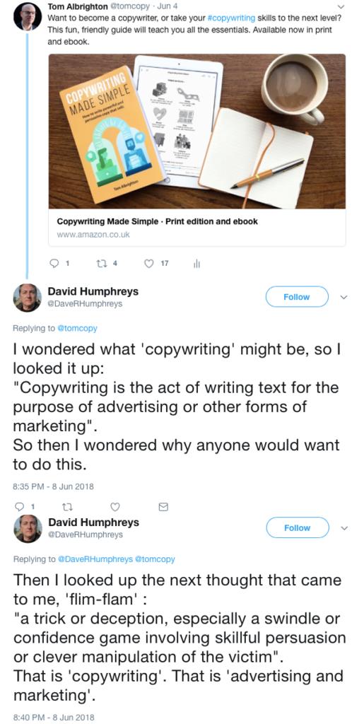 Tweet replies by Dave Humphreys