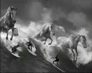 Guinness' white horses: poetic, ineffable, brilliant