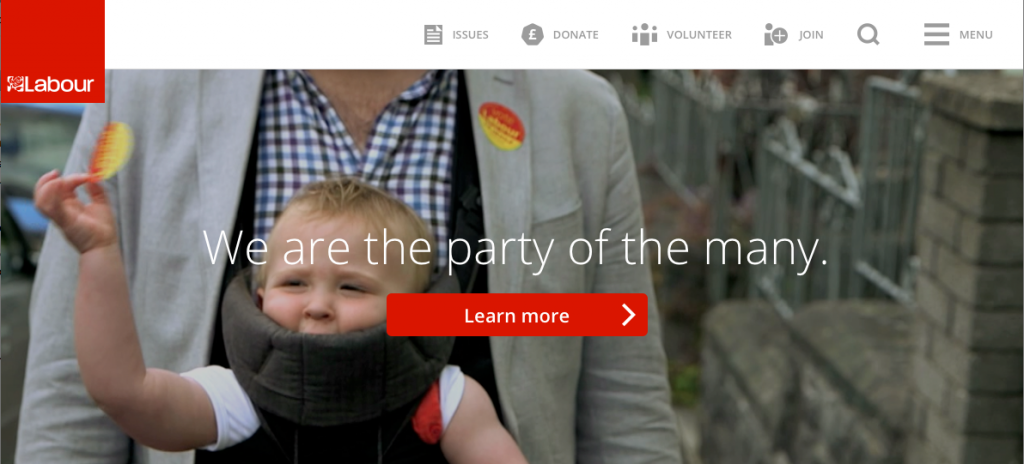 labour home page october 2014