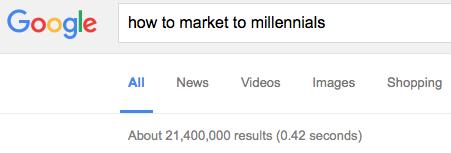 market millennials search