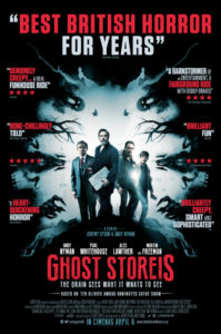 Ghost Stories poster with deliberately misspelt words
