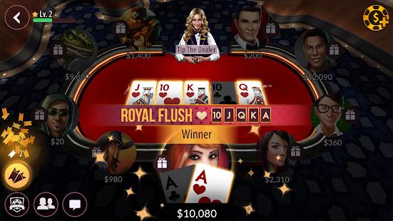 Zynga Poker gameplay